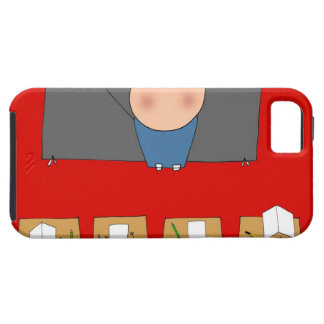 Teacher in front of classroom, elevated view tough iPhone 5 case