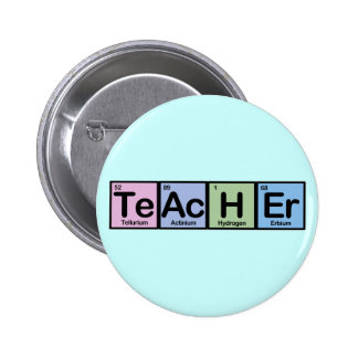 Teacher made of Elements 6 Cm Round Badge