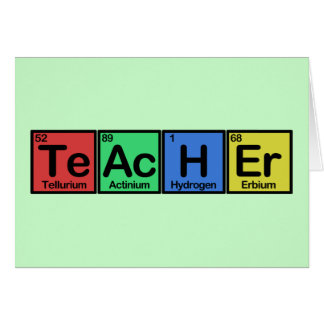 Teacher made of Elements colors Card