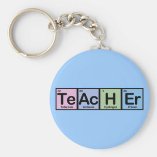 Teacher made of Elements Key Ring