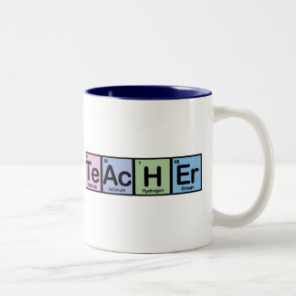 Teacher made of Elements Two-Tone Mug