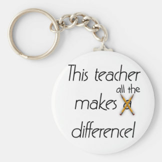Teacher Makes a Difference T-shirts and Gifts Key Ring
