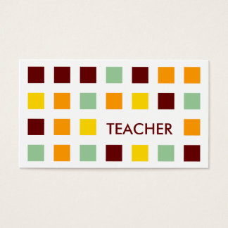 TEACHER (mod squares) Business Card
