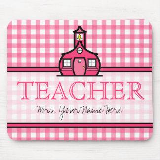 Teacher Mousepad - Pink Gingham