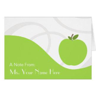 Teacher Note Card - Green Apple