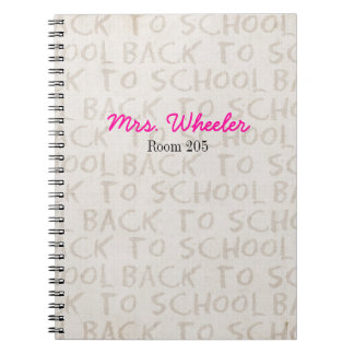 Teacher Notebook Back To School Spiral Book