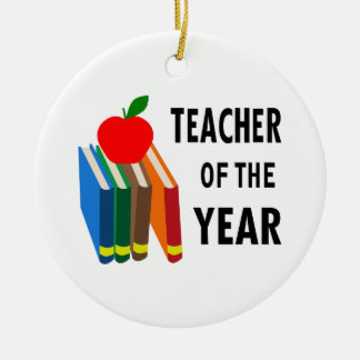 teacher of the year christmas ornament