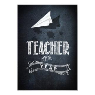 Teacher of to year 9 cm x 13 cm invitation card