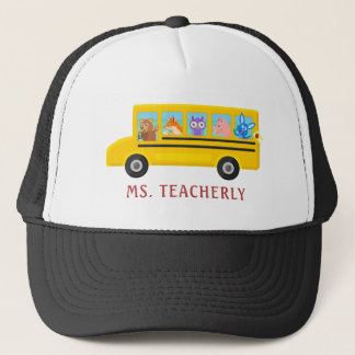 Teacher or Bus Driver Cute Animals   Personalized Trucker Hat