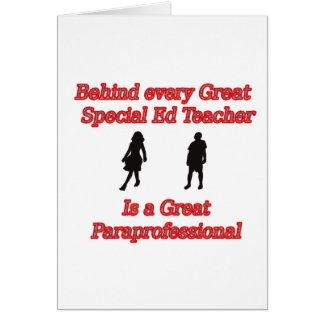 teacher para copy greeting card