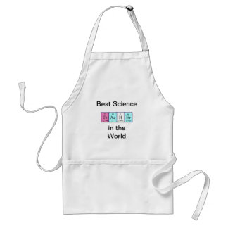 Teacher periodic table name apron