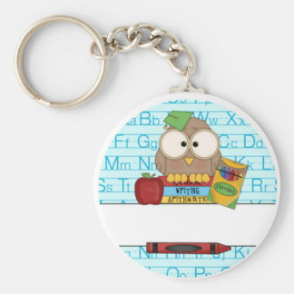 Teacher Personalized Basic Round Button Key Ring