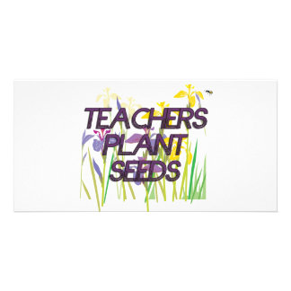 TEACHER PLANT SEEDS CUSTOMISED PHOTO CARD