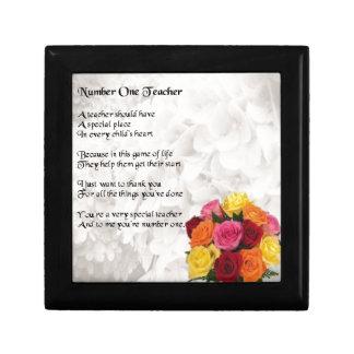 Teacher Poem -  Flowers Design Gift Box