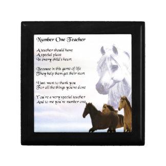 Teacher Poem  -  Horses Design Gift Box
