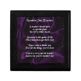 Teacher Poem -  Purple Silk Design Gift Box