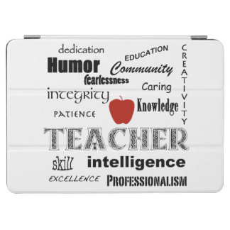Teacher Pride+Red Apple/Word Cloud iPad Air Cover