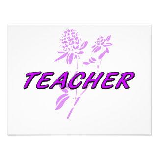 TEACHER PURPLE PERSONALIZED INVITATION