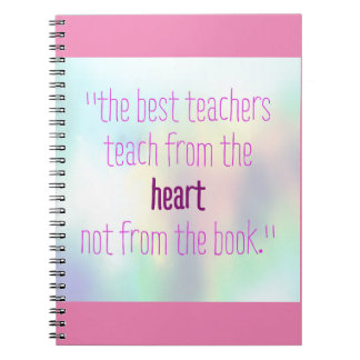 Teacher quotes notebook pink