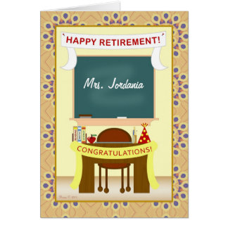 Teacher Retirement Classroom Personalized Card