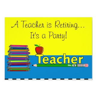 Teacher Retirement Party Invitations