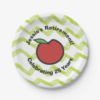 Teacher Retirement Personalize Paper Plate
