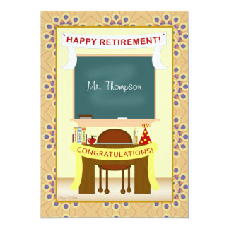 Teacher Retirement Personalized Party Invitation