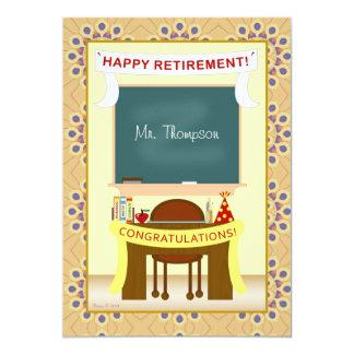 Teacher Retirement Personalized Party Invitation
