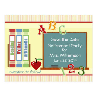 Teacher Retirement Save the Date Postcard