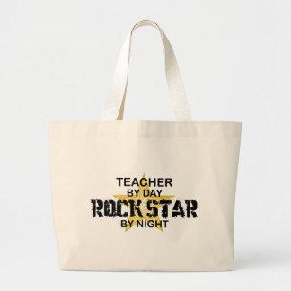 Teacher Rock Star by Night Jumbo Tote Bag