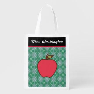 Teacher s Apple Reusable Grocery Bag