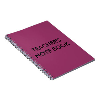Teacher s photo note book