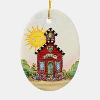Teacher - School House - SRF Christmas Ornament