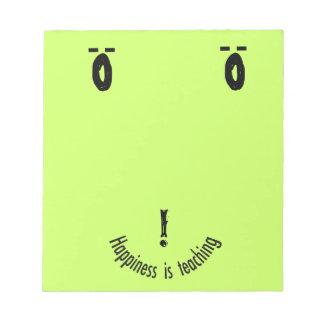 Teacher' Smiley Note Face Design