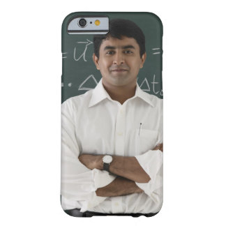 teacher standing in front of chalkboard, arms barely there iPhone 6 case