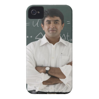 teacher standing in front of chalkboard, arms Case-Mate iPhone 4 case
