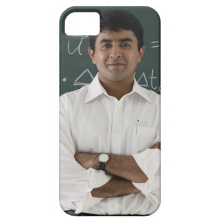 teacher standing in front of chalkboard, arms iPhone 5 cover