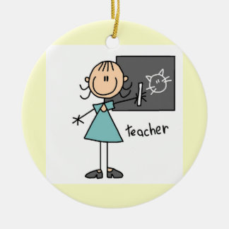 Teacher Stick Figure Christmas Ornament