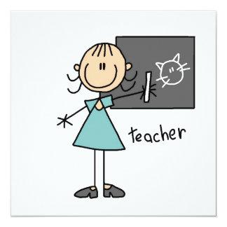 Teacher Stick Figure Custom Announcement