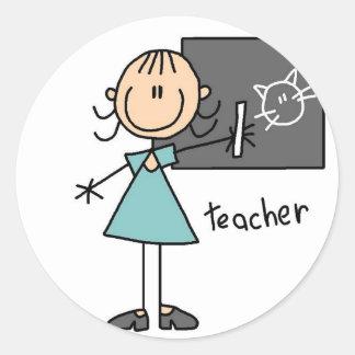 Teacher Stick Figure Sticker