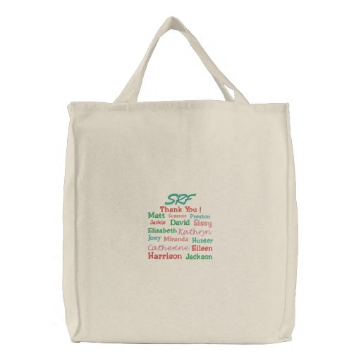 Teacher / Student Teacher / Coach, etc. Tote Embroidered Bag