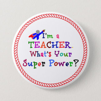 Teacher Superhero 7.5 Cm Round Badge