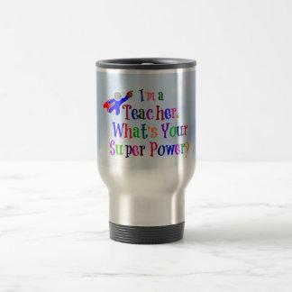 Teacher Superhero 15 Oz Stainless Steel Travel Mug