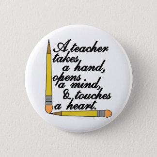 Teacher Takes 6 Cm Round Badge