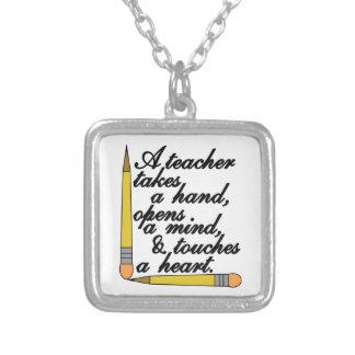 Teacher Takes Square Pendant Necklace