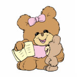teacher teaching baby teddy bear design photo cut outs