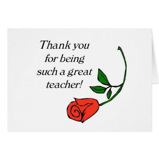 Student Thanking Teacher Quotes: Teacher Thank You Card