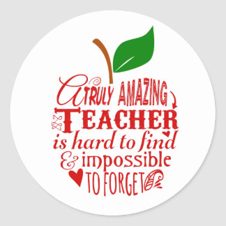 Teacher Thank you Classic Round Sticker