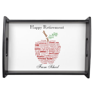 Teacher Thank You Happy retirement Tray