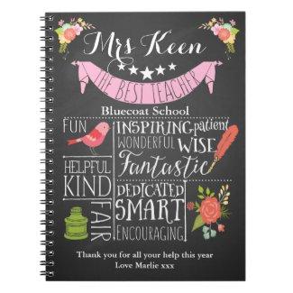 Teacher Thank you notebook